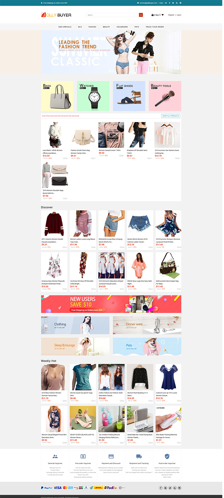 www.Jollybuyer.com Shopify 官网