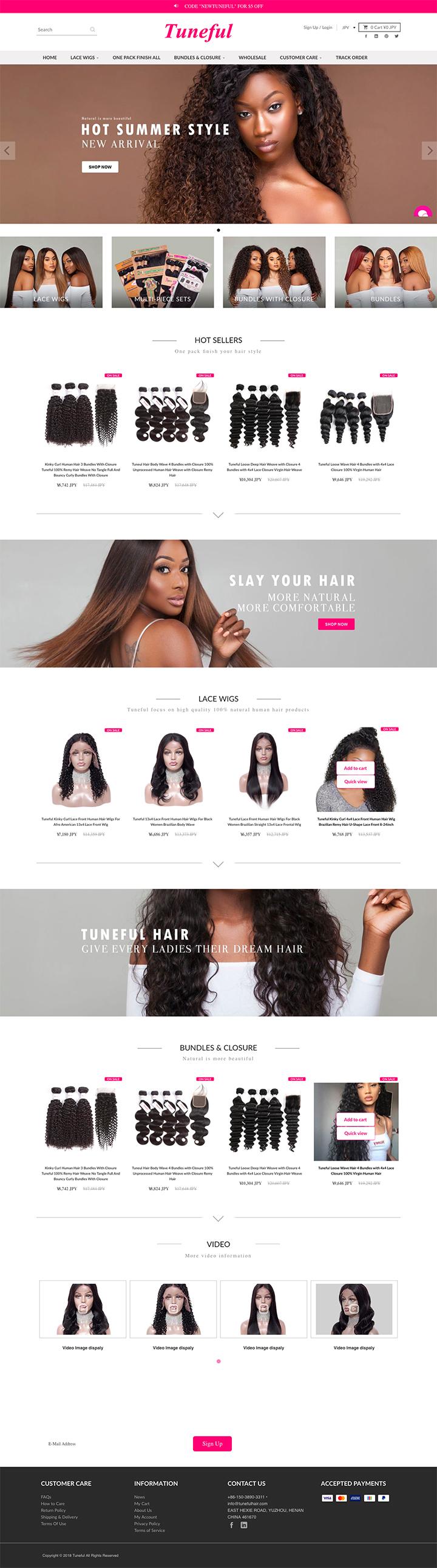 Tuneful hair