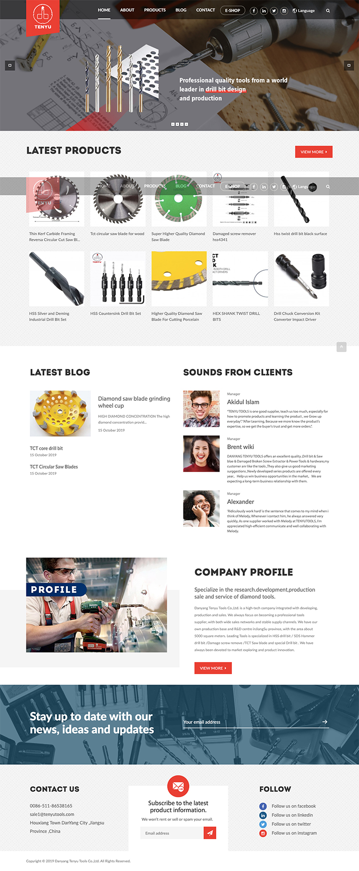 Danyang Tenyu Tools Co.,Ltd.