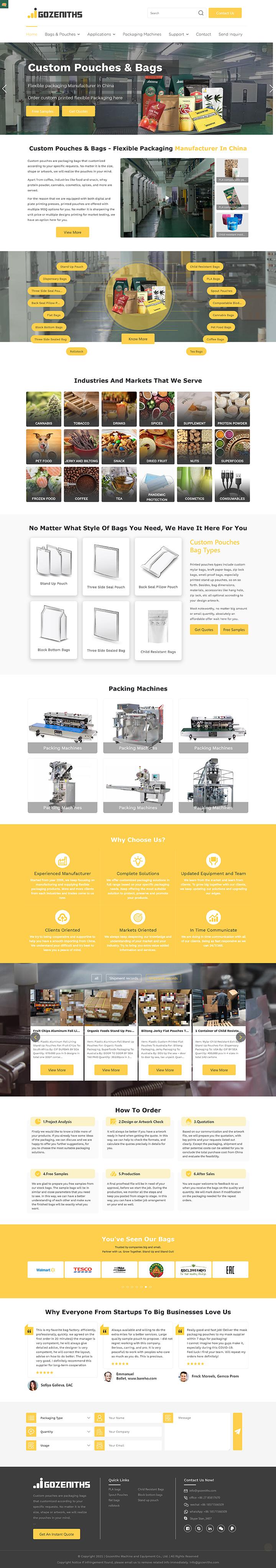Gozeniths Machine and Equipment Co., Ltd.